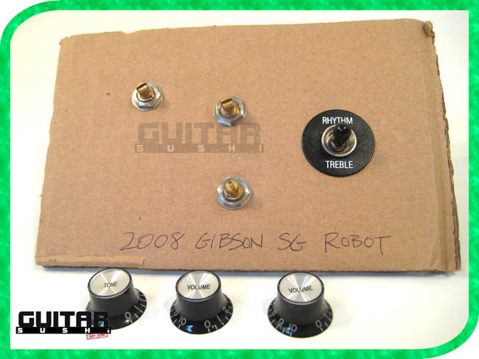 2008 Gibson Robot SG Limited LTD Tone Volume Controls Knobs Pots Electronics