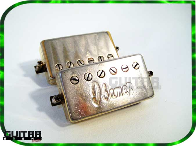 MATCHED PAIR - Vintage Ibanez Super 70's Humbucker Pickups with Original Spaghetti Style Logo RARE!!