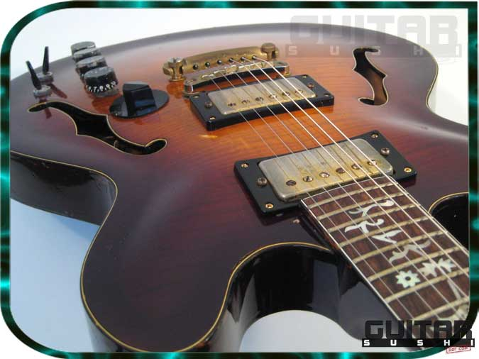Vintage 1978 Electra X810 X-810 MPC ES-335 Style Electric Guitar with Tree of Life Vine Inlays and onboard effect electronics